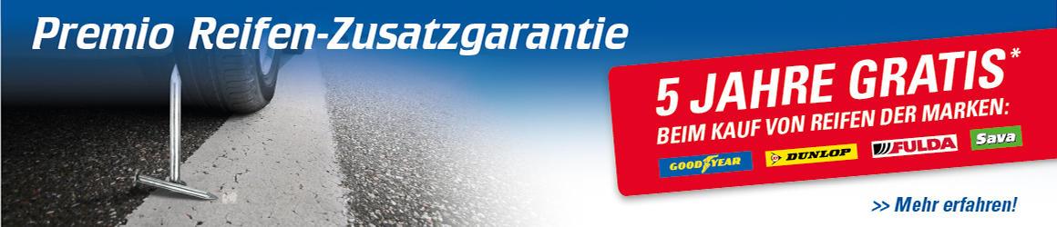 Premio Reifen-Zusatzgarantie - 5 Jahre gratis!